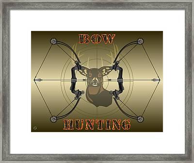 Bow Hunting Framed Print by Brian Swanke
