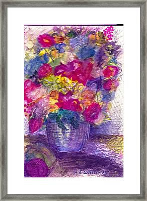 Bow Kay Framed Print by Anne-Elizabeth Whiteway