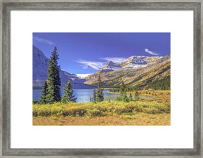 Framed Print featuring the photograph Bow Lake 2005 01 by Jim Dollar