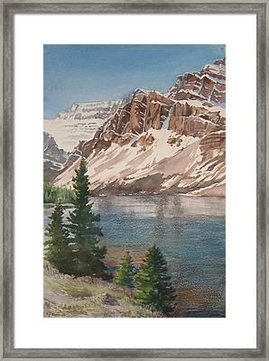 Bow Lake Alberta Framed Print by Debbie Homewood