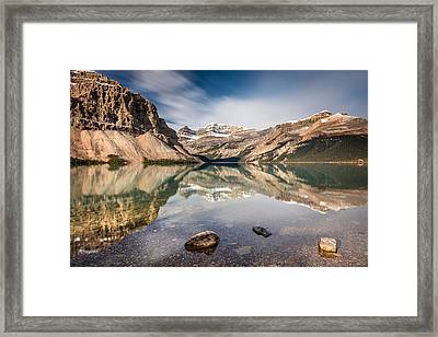 Bow Lake Glorious Reflection Framed Print by Pierre Leclerc Photography