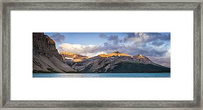 Bow Lake Panorama Framed Print by Tomas Nevesely