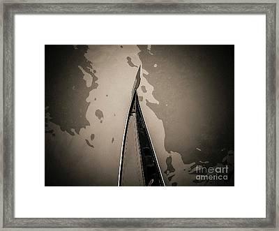Bow Of A Gondola, Venice, Italy, Europe Framed Print
