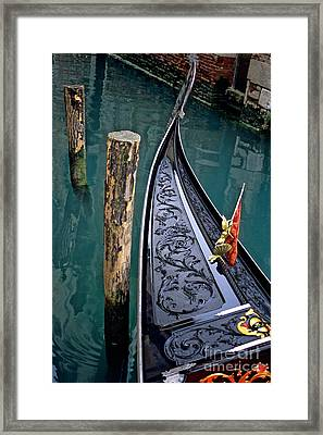 Bow Of Gondola In Venice Framed Print by Michael Henderson