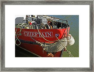 Bow Of The Chieftain - Whitby Harbour Framed Print by Rod Johnson