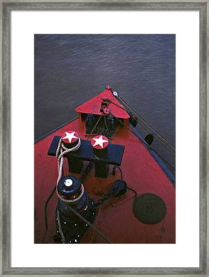 Bow Of The Riverboat Delta Queen Framed Print by Dave Chafin