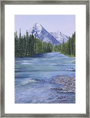 Bow River Framed Print by Debbie Homewood