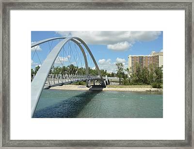 Bow River Walking Bridge II Framed Print