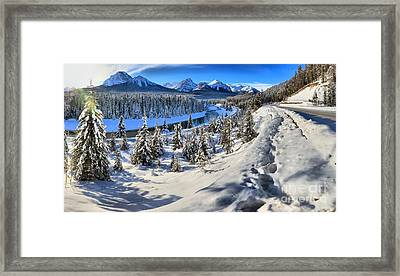 Bow Valley Mountains Framed Print by Adam Jewell