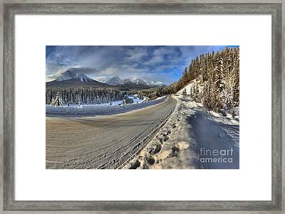 Bow Valley Winter Wonderland Framed Print
