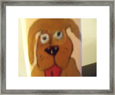 Bow Wow Framed Print by Rhonda Jackson