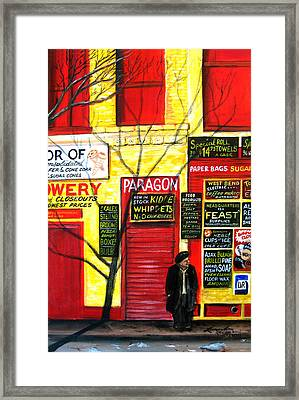 Bowery Framed Print by Leonardo Ruggieri
