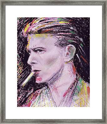 Bowie Close-up Framed Print