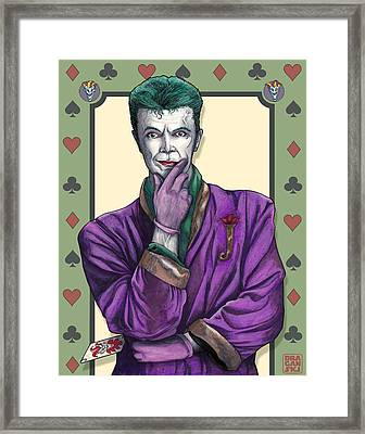 Bowie Joker Framed Print