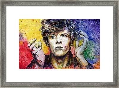 Bowie Framed Print by Nate Michaels