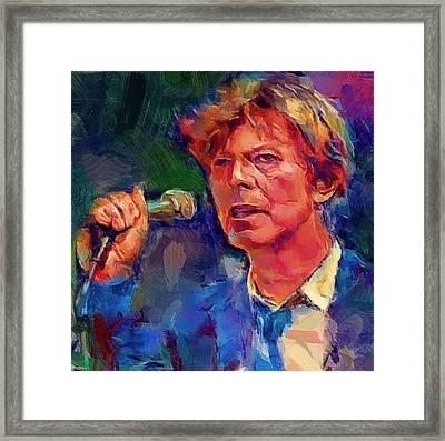 Bowie Singing 2 Framed Print