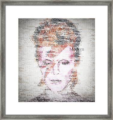 Bowie Typo Framed Print
