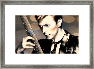 Bowie Framed Print by Wbk