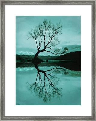Bowing Branches Framed Print