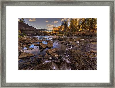 Bowl And Pitcher In Autumn Framed Print by Mark Kiver