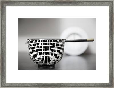 Bowl - Fortune Framed Print by Cho Me