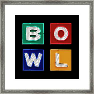 Bowl Graphic Framed Print by Kelley King