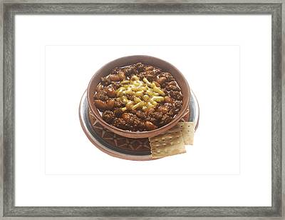 Bowl Of Chili Framed Print by PhotographyAssociates