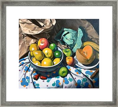 Bowl Of Friut Framed Print by Kevin Lawrence Leveque