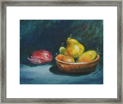 Bowl Of Fruit By Alan Zawacki Framed Print