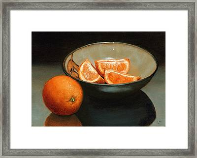 Bowl Of Oranges Framed Print