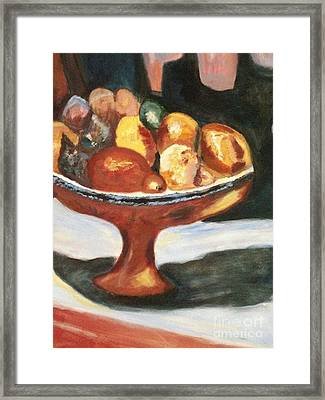 Bowl Of Passion Framed Print by Helena Bebirian