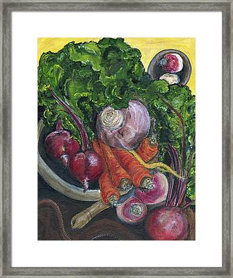 Bowl Of Plenty Framed Print by Jill Hershock