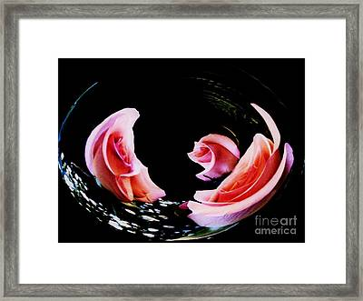Bowl  Of Roses Framed Print