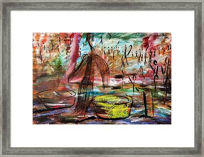 Bowl People Framed Print by Original Art For your home