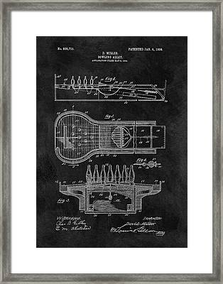 Bowling Alley Patent Framed Print