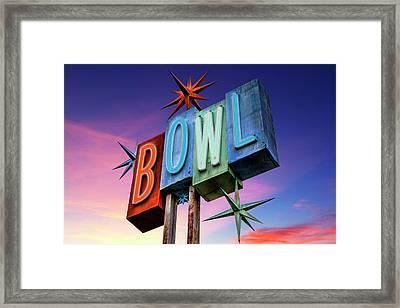 Bowling Americana Framed Print by Kelley King