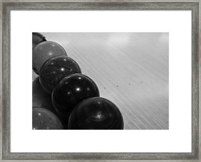 Bowling Framed Print by Edward Myers
