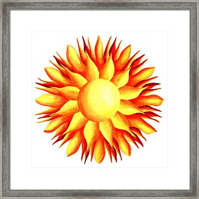 Bowling For Sunshine Framed Print by Maureen Frank The Mandala Lady