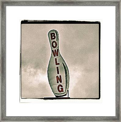 Bowling Framed Print by Photograph by Bob Travaglione FoToEdge