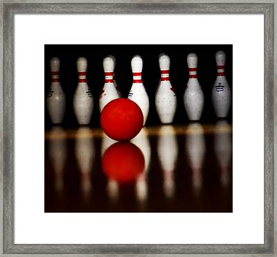Bowling Reflections Framed Print