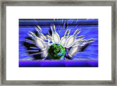 Bowling Sign - Strike Framed Print by Steve Ohlsen