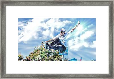Bowlriders, Skateboarder Framed Print