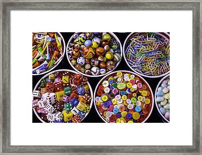 Bowls Full Of Things Framed Print