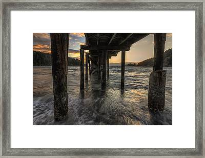Bowman Bay Pier Framed Print by Mark Kiver
