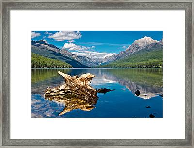 Bowman Lake 1, Glacier Nat'l Park Framed Print