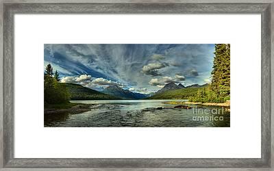 Bowman Lake Montana Framed Print by Adam Jewell