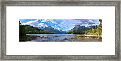 Bowman Lake Panorama Framed Print by Adam Jewell