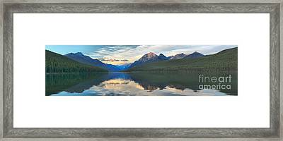 Bowman Lake Reflections Framed Print by Adam Jewell