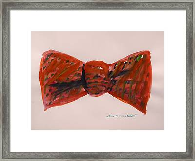 Bowtie 1 Framed Print by John Williams