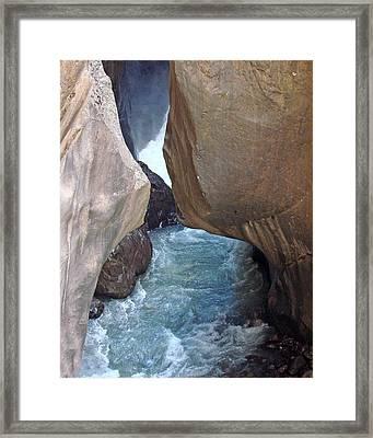 Box Canyon Falls Framed Print